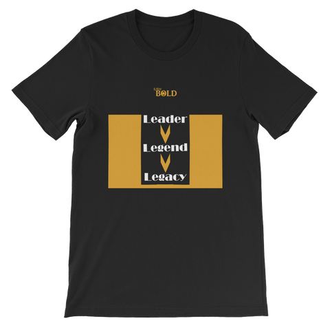 Leader.Legend.Legacy - Short-Sleeve Unisex T-Shirt - 18 Colors - LiVit BOLD - LiVit BOLD