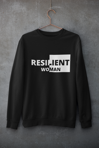 Resilient Woman Black Sweatshirt