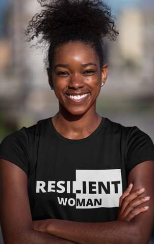 Resilient Woman Black and White T-Shirt (Buy One Get One FREE)