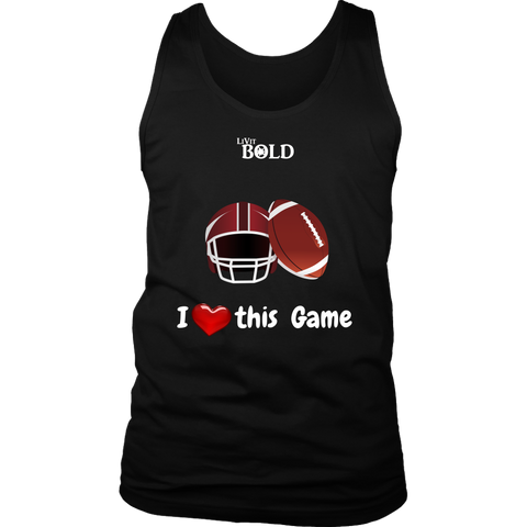 LiVit BOLD District Men's Tank - I Heart this Game - Football - LiVit BOLD