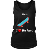 LiVit BOLD District Women's Tank - I Heart This Sport - Skateboarding - LiVit BOLD