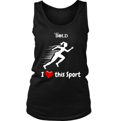 LiVit BOLD District Women's Tank - I heart this Sport - Track & Field - LiVit BOLD