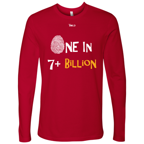One In 7 Plus Billion - Men's Long Sleeve T-Shirt - 6 Colors - LiVit BOLD - LiVit BOLD