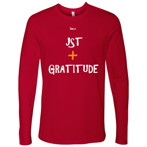 Just Add Gratitude Men's Long Sleeve Top - LiVit BOLD - 6 Colors - LiVit BOLD