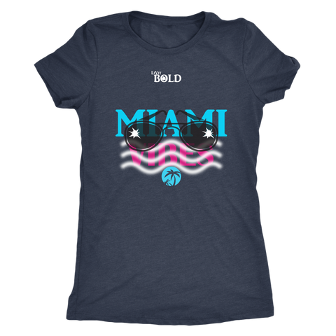 Miami Vibes Short Sleeve Women's T-Shirt - LiVit BOLD - 4 Colors - LiVit BOLD