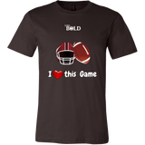 LiVit BOLD Canvas Men's Shirt - I Heart This Game - Football - LiVit BOLD