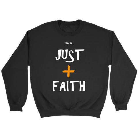 Just Add Faith Unisex Crewneck Sweatshirt - LiVit BOLD - 7 Colors - LiVit BOLD
