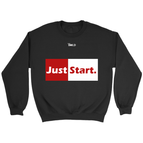 Just Start Unisex Sweatshirt - LiVit BOLD - 8 Colors - LiVit BOLD