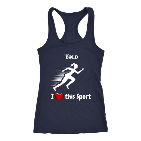LiVit BOLD Next Level Racerback Tank - I Heart this Sport - Track & Field - LiVit BOLD