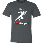 LiVit BOLD Canvas Men's Shirt - I Heart This Sport - Track & Field - LiVit BOLD