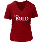 LiVit BOLD Women's V-Neck - Hot Pink Burst - 6 Colors - LiVit BOLD