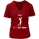 LiVit BOLD District Women's V-Neck Shirt - I Heart this Game - Golf - LiVit BOLD
