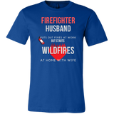FIREFIGHTER HUSBAND WITH WIFE T-SHIRT (9 COLORS)