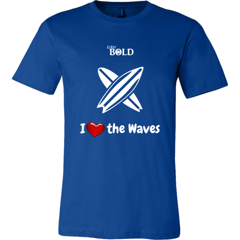 LiVit BOLD Canvas Men's Shirt - I Heart the Waves - Surfing - LiVit BOLD