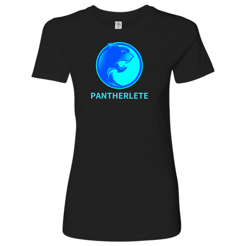 Pantherlete Athletics Women's Top - Black - 3/4 logo size print - LiVit BOLD