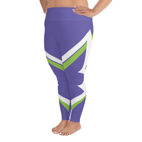 Winged Plus Size Leggings  - Purple