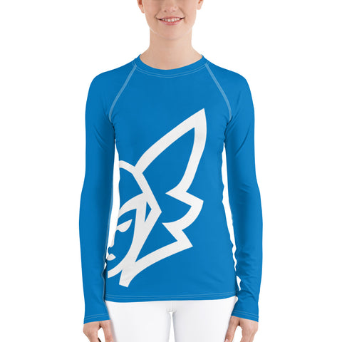 Blue Curvy Rash Guard