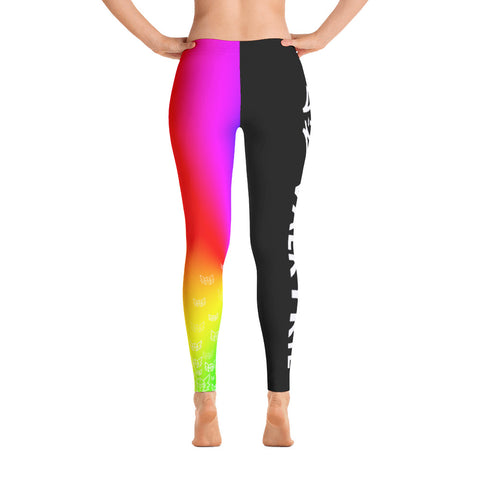 Rainbow Leggings - Black