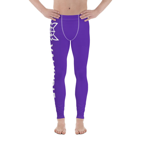 Purple Men's Cut Leggings
