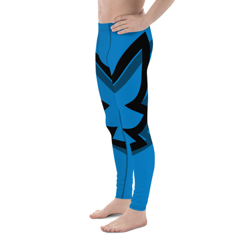 Winged Men's Cut Leggings - Blue