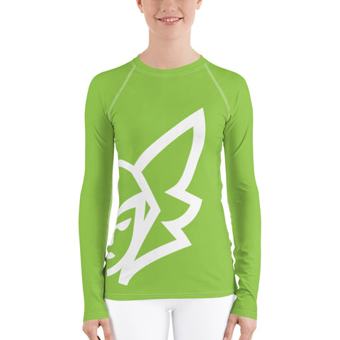 Green Curvy Rash Guard