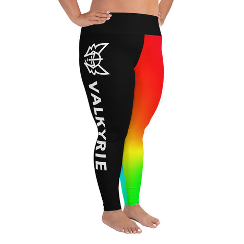 Rainbow Plus Size Leggings - Black