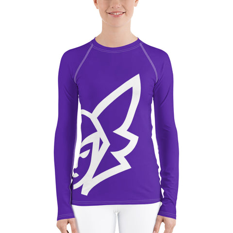 Purple Curvy Rash Guard