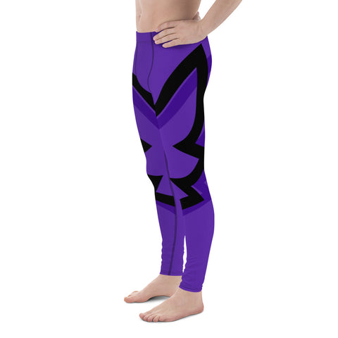 Winged Men's Cut Leggings - Royal Purple