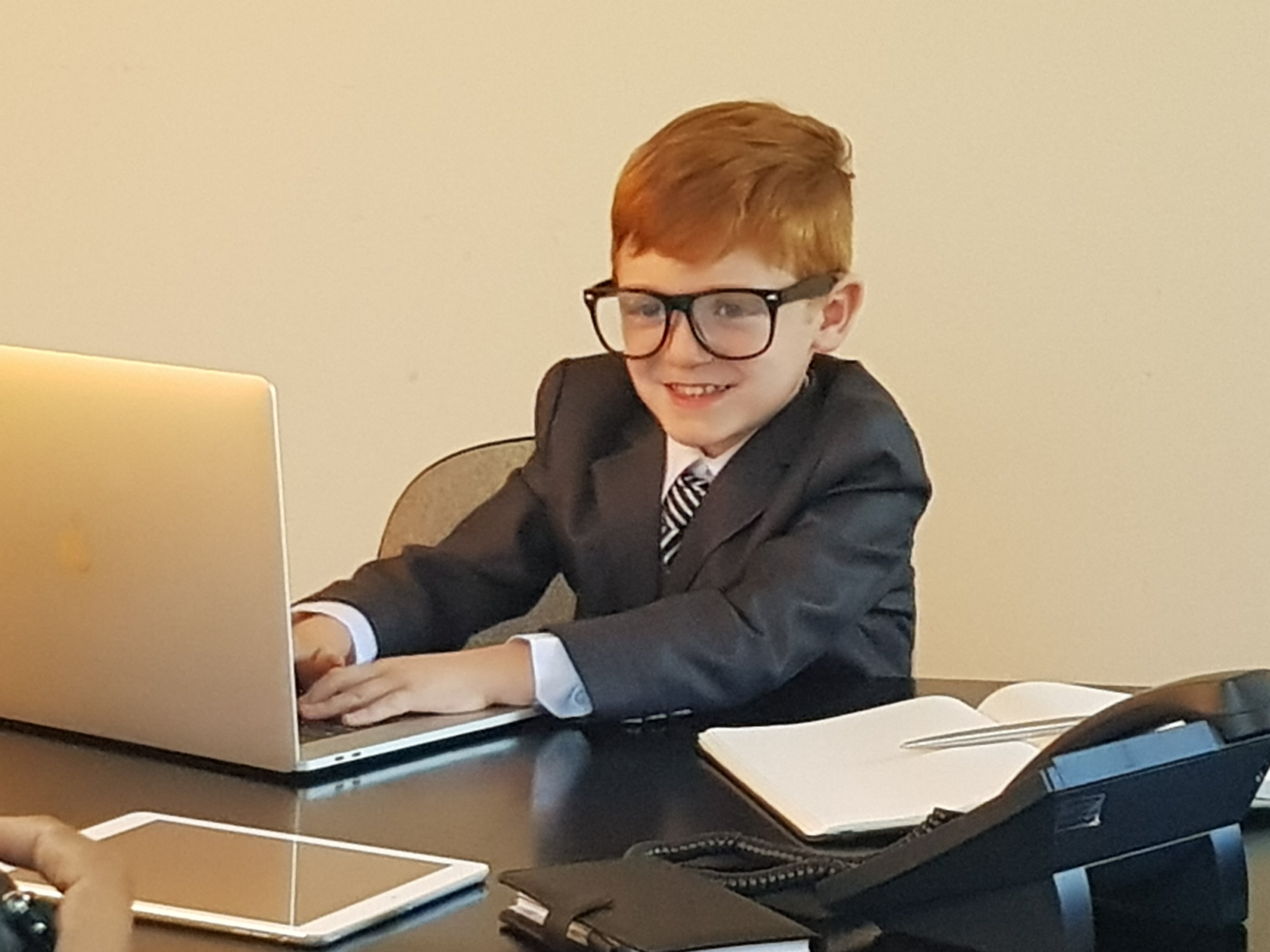 Leo present day- Working on our website!