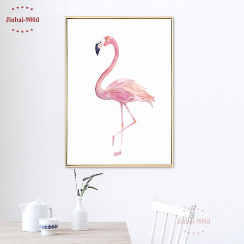 Watercolor Flamingo Posters And Prints