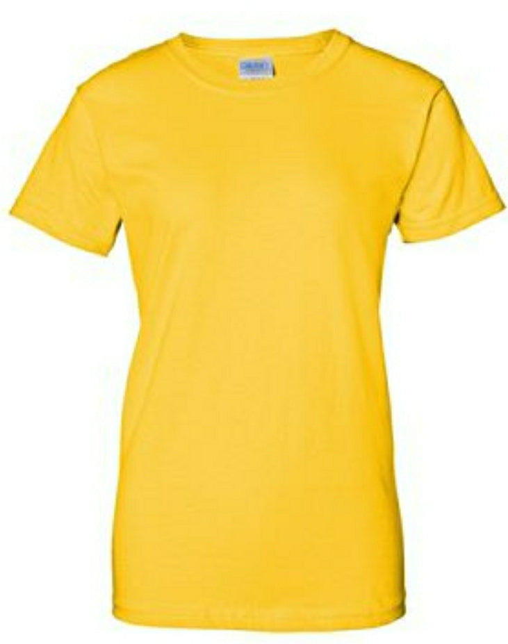 Womens Gildan T-Shirt- Super Heavy 100% Cotton