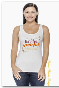 Thankful, Grateful, Blessed Tank-Top