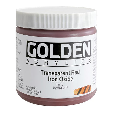 Golden Heavy Body Acrylics in 16 ounce jars