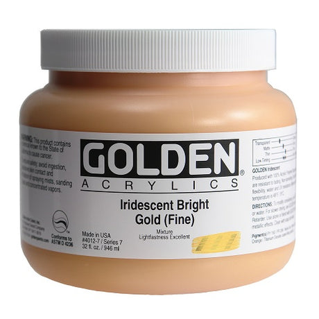 Golden Heavy Body Acrylics in 32 ounce Jars