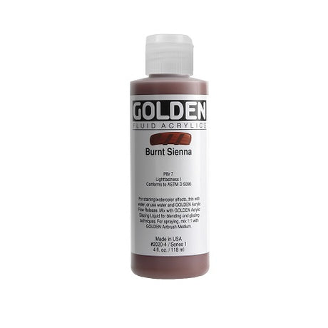 Golden Fluid Acrylics in 4 Ounce Bottles