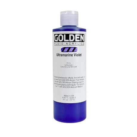 Golden Fluid Acrylics in 8 Ounce Bottles