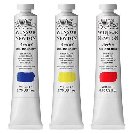 Winsor & Newton Professional Artists' Oil Colors in 200 ml Tubes