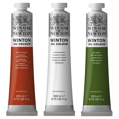 Winsor & Newton Winton Oils in 200 ml tubes