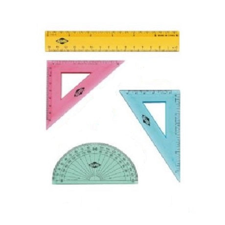 Triangles, Triangular Scale Rulers and Protractors