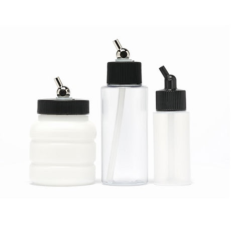 Siphon Feed Bottles and Cups for Iwata Airbrushes