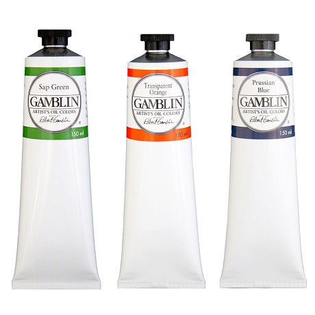 Gamblin Artist Oil Colors in 150 ml Tubes