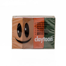 Van Aken Claytoon Clay Earth Tones Set -  brown, dark green, flesh, terra-cotta