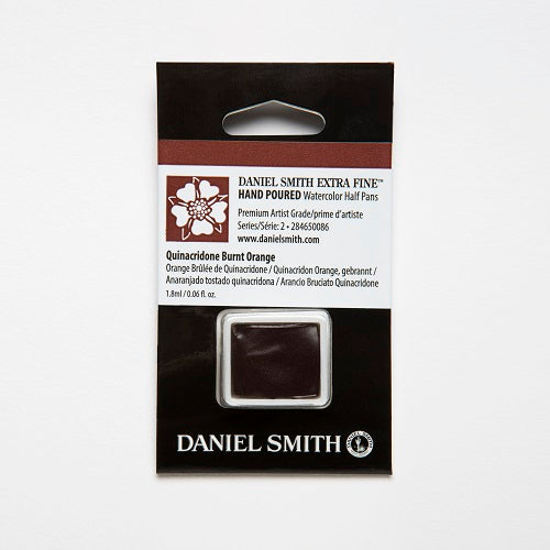 Daniel Smith Extra Fine Watercolor Half Pan - Quinacridone Burnt Orange