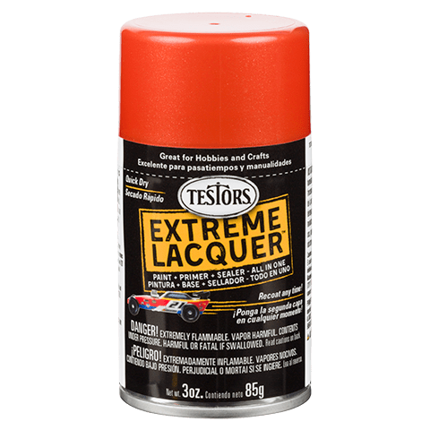 Testors Extreme (one coat) Spray Lacquer 3 oz - Flaming Orange