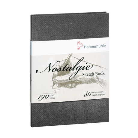 "Hahnemuehle Nostalgie Hard Cover Sketch Book 8.2"" x 5.8"" (A5) Portrait"