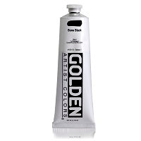 Golden Heavy Body Acrylic Bone Black 5 oz  (Prop 65 WARNING!)