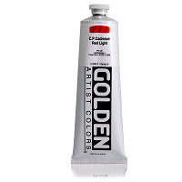 Golden Heavy Body Acrylic C.P. Cadmium Red Light 5 oz  (Prop 65 WARNING!)