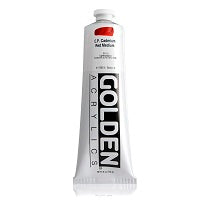 Golden Heavy Body Acrylic C.P. Cadmium Red Medium 5 oz  (Prop 65 WARNING!)