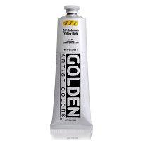 Golden Heavy Body Acrylic C.P. Cadmium Yellow Dark 5 oz  (Prop 65 WARNING!)