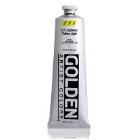 Golden Heavy Body Acrylic C.P. Cadmium Yellow Light 5 oz  (Prop 65 WARNING!)